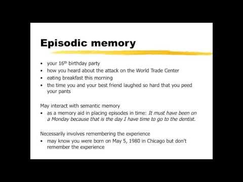 Semantic and Episodic Memory