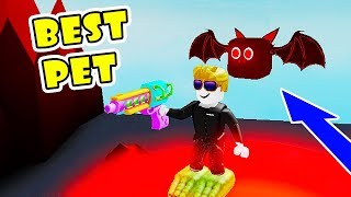 Alle neuen Bereiche freischalten | Got The Best & Rarest Pet (Hot Bat) in Pew Pew Simulator!! [Roblox]