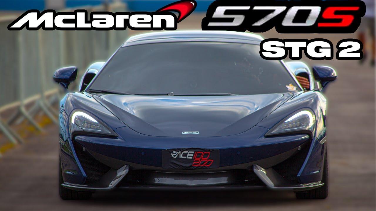 MCLAREN 570S STG 2   PITSTOP   100-200 IMPRESSIONANTE