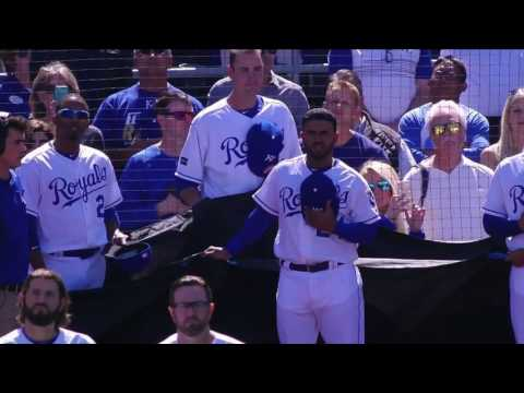 Royals tribute to Yordano Ventura on Opening Day at The K