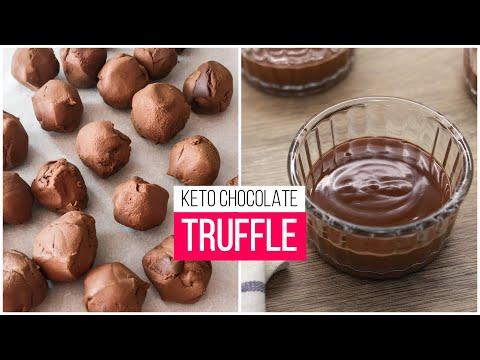 KETO CHOCOLATE TRUFFLE With Only 3 Ingredients | Easy Keto Recipes | Keto Dessert | Sweet Keto