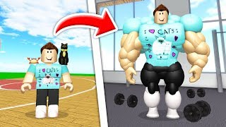 BECOMING THE BUFFEST ROBLOX PLAYER EVER