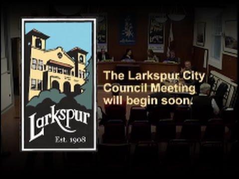 Larkspur City Council Meeting June 1, 2016