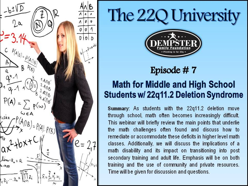 22Q University Episode #7 Math for Middle/High School Students w ...