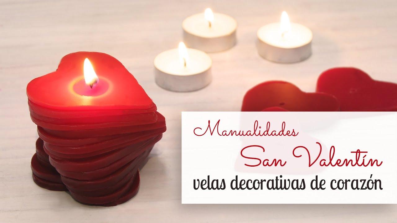 Manualidades san valentin hacer velas decorativas de for Como hacer velas decorativas
