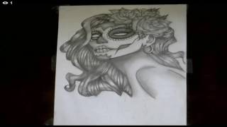 ME DRAWING SICK DAY OF THE DEAD
