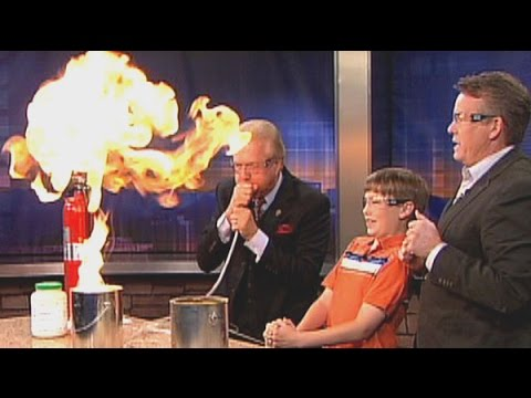 Steve Spangler Celebrates Mark Koebrich's Television Career with One Last Science Experiment