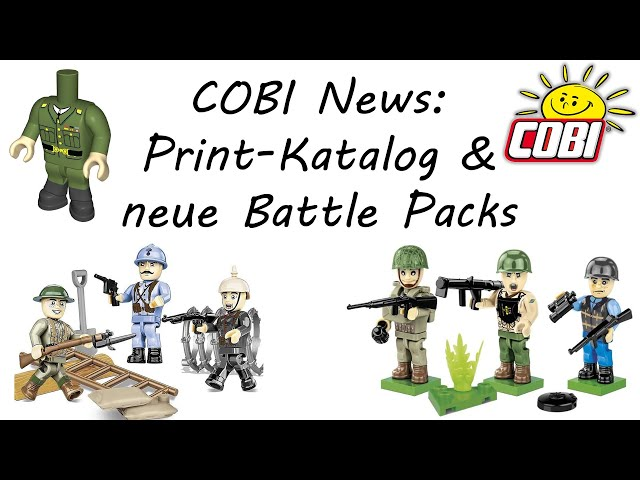 COBI News: Print Katalog, neue Battle Pack & weitere Kurz News (2048, 2051)