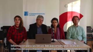 Sesión Informativa sobre las Becas de la Fundación Carolina - Conservatori Liceu