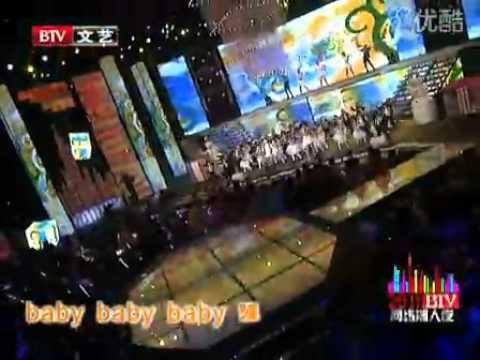 "Giulio singing ""Baby"" at Beijing TV 28 January 2011"