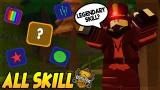 ALL SKILLS IN NEW MAP STEAMPUNK SEWERS *LEGENDARY SKILL?* IN DUNGEON QUEST ROBLOX