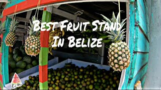Best Fruit Stand in BELIZE Road Trip
