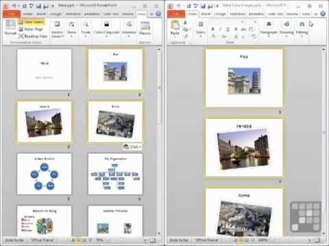 powerpoint 2010 tutorial - how to insert slides from another, Presentation templates