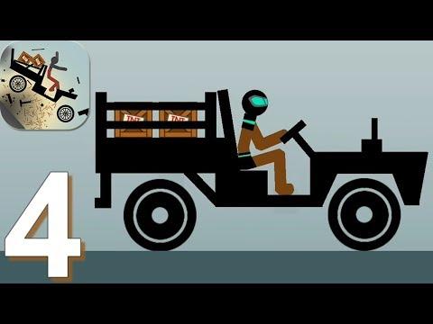 Ragdoll Dismounting Stickman - Gameplay Walkthrough Part 4 Superman On Truck (Android)