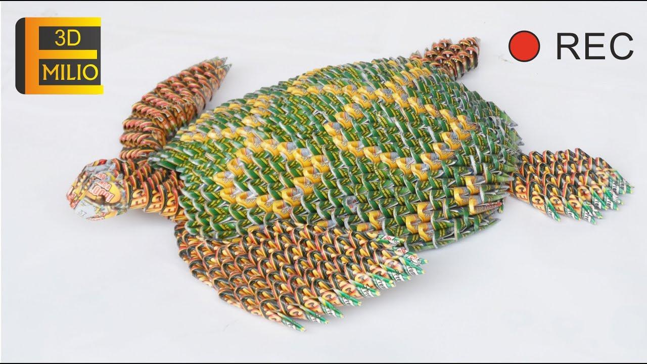 Sea turtle origami 3d emilio tartaruga tortuga youtube jeuxipadfo Image collections