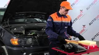Kā nomainīt Gaisa filtrs BMW X5 (E53) - video ceļvedis