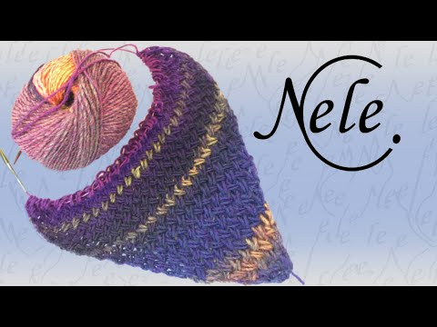 Tuch stricken – Flechtmuster in Dreiecksform – criss cross stitch – DIY Anleitung by Nele C.
