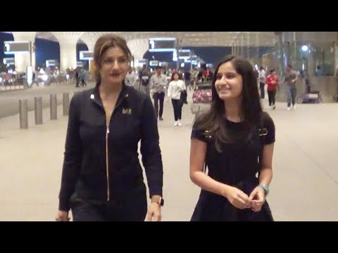 Raveena Tandon With Daughter Chaya Spotted At Mumbai Airport Mp3