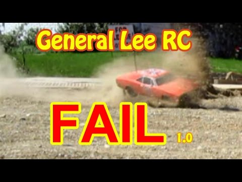 General Lee RC FAIL 1a Crashes Smashes & Outtakes in HD