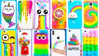 20 DIY PHONE CASES 🌈Rainbow Edition 🌈| Easy & Cute Phone Projects & iPhone Hacks