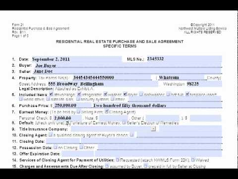 Purchase And Sale Agreement Explained  Home Sales Agreement Template