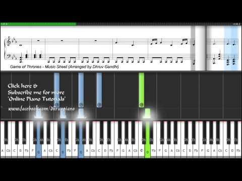 Game of Thrones FREE (Tutorial + MusicSheet + MIDI) -- EASY to ADVANCED