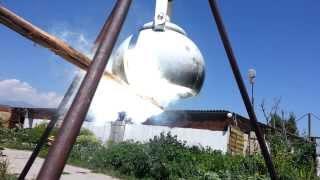 Солнечная Печь   Круглая зеркальная
