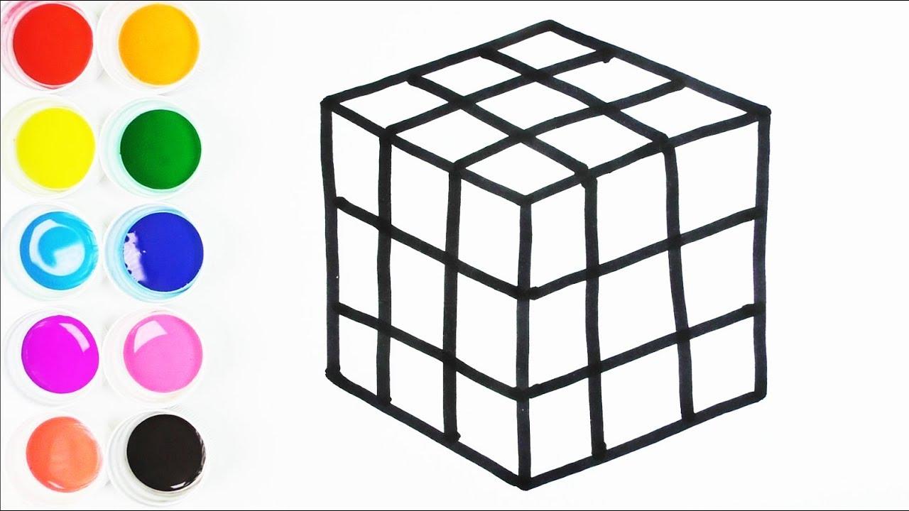 Cómo Dibujar y Colorear Un Cubo Mágico - Arte y Color Para Niños ...