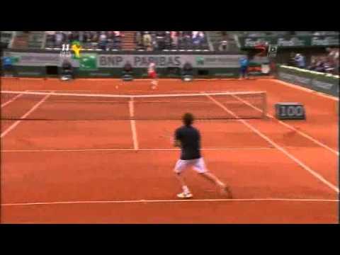 Federer amazing backhands against Gulbis RG 2014