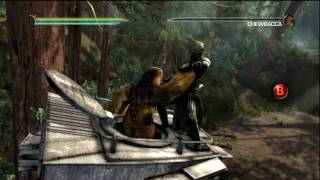 Star Wars: The Force Unleashed II - Dark Lord Starkiller kills Han Solo and Chewbacca