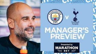 PEP GUARDIOLA | PRESS CONFERENCE | MAN CITY V SPURS