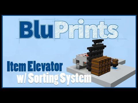Ep 3: Item Elevator and Item Sorter in Minecraft Bedrock Edition | BluPrints Tutorial Series