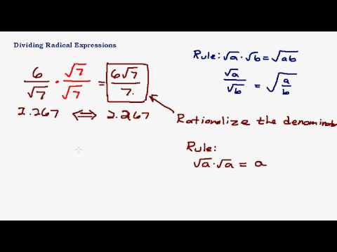 Dividing radical expressions rationalizing the denominator youtube ccuart Gallery