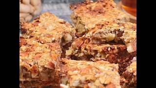 Овсяные батончики с орехами | Рецепт гранолы с бананами