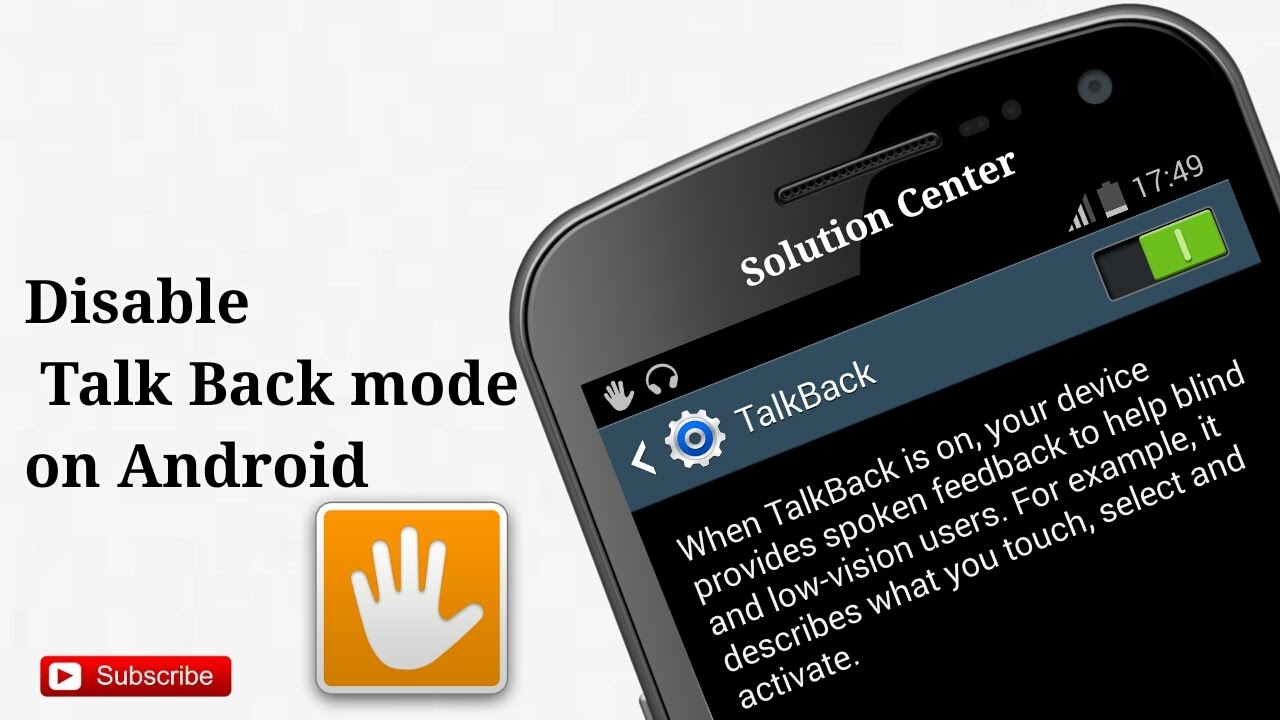 Disable Talkback How to Turn o...