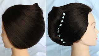 short hairstyles || hairstyle || french twist ||  hairstyle for short hair || french roll hairstyle