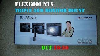 Triple Screen Mount - Fleximounts - Triple Arm Monitor Mount (D1T) - Unboxing, Review, Test - Part 1