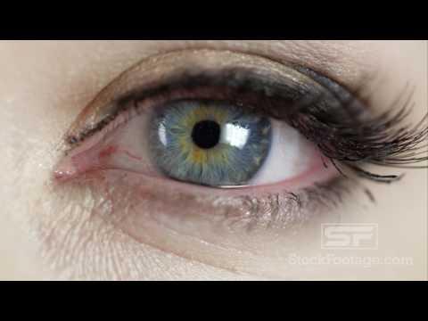 Macro view of woman's blue eye