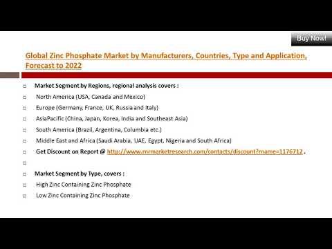 Worldwide Trend & Distributor on Zinc Phosphate Market 2017