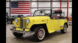 1949 Willys Jeepster yellow