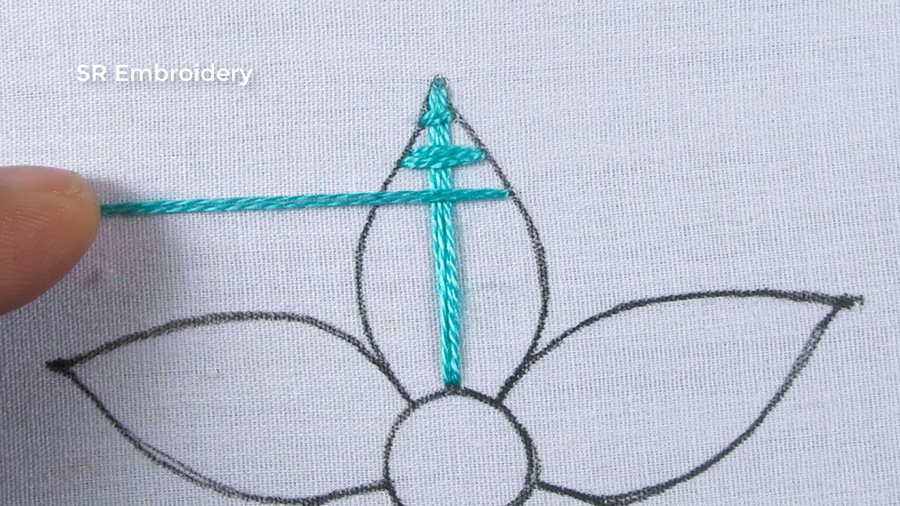 Hand Embroidery Amazing Colourful Flower Design With Easy Following Sewing Stitch Tutorial