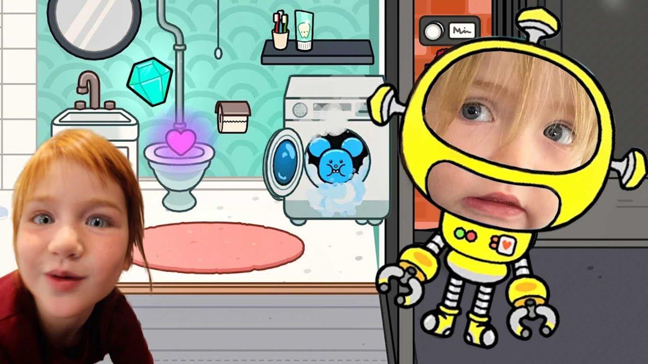 Download ROBOT NiKO Flushes my Diamond ??!  Adley App Reviews | Toca Life World play town & neighborhood 💎