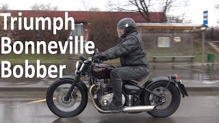 Triumph Bonneville Bobber, новинка 2017 МОТОЗОНА 17 смотреть