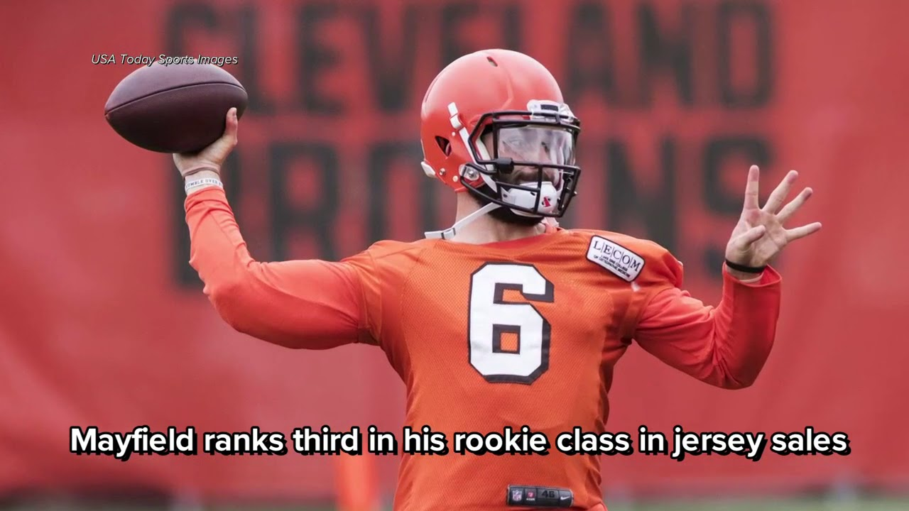 new concept 2403e caf75 Cleveland Browns QB Baker Mayfield ranks in Top 10 among NFL jersey sales