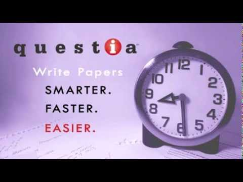 Writing a research paper can be overwhelming. Questia can help when you are up against the clock!