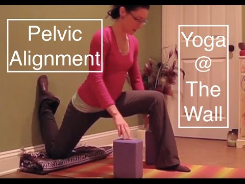 yoga  the wall pelvic alignment  hip flexors