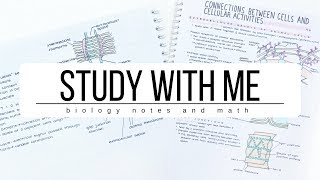 Study With Me Biology notes and Math  studytee