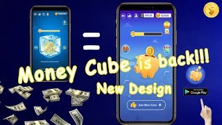 Gambar cover Money Cube is back! New design! By tapping the Piggy bank to earn money!