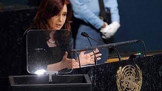 25 de SEP. Asamblea General de la ONU 2012. Discurso de la Presidenta Cristina Fernández
