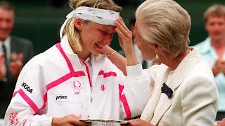 Jana Novotna on Wimbledon defeat and the Duchess of Kent's comforting words - archive video